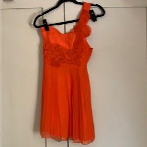 Orange Oof the Shoulder Dress